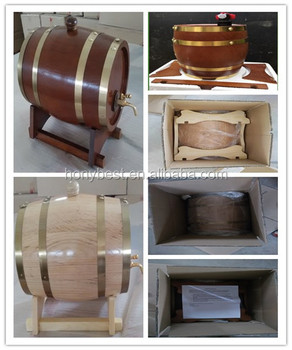High Quality Whiskey Barrel Oak Wooden with Stand and Customize Size and Color