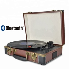 Desonic Bluetooth Portable 33/45/78RPM Turntable Vinyl Record Phono Player Aux-in RCA Line-out Built-in Battery 110~240V
