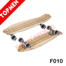 "27"" Fish Shape Bamboo Deck Longboard Skateboard"