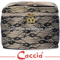 Elegant lady travel lace cosmetic bag