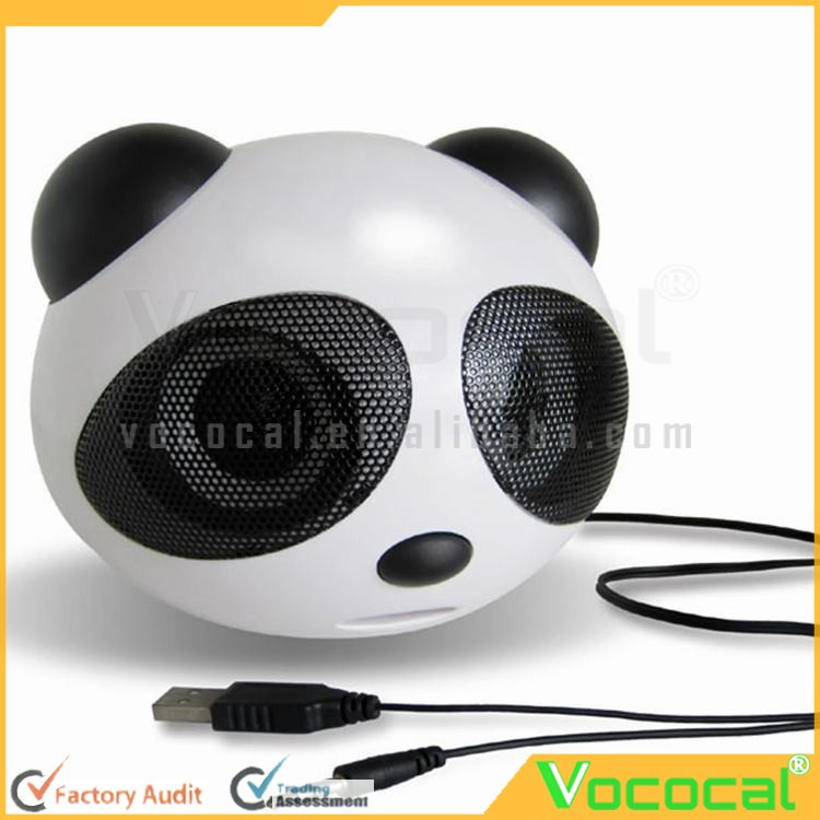 Mini Panda Shape USB 2.0 Portable Active Speaker Stereo Speaker for Laptop Notebook Desktop Cellphone