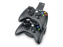Black 2in1 Controller Charger & Storage Stand For XBOX360