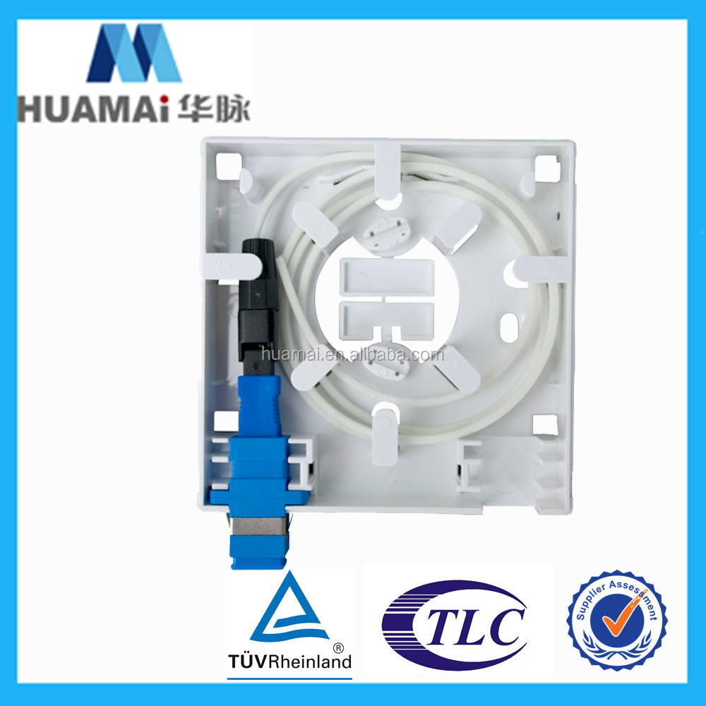 Factory Price! FTTH mini Fiber Optic Terminal Box/Face Plate ABS Material