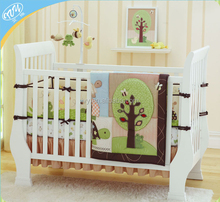 Comforter embroidery cotton crib bed set baby bedding set cot