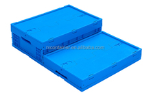 Plastic folding turnover logistic box for storage of RXZ0010