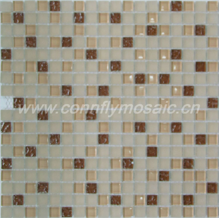 Beige Browns Mosaic Glass Mini Chips