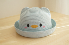 Promotional Baby Girls Embroidered Sunshade Bucket Straw Hats
