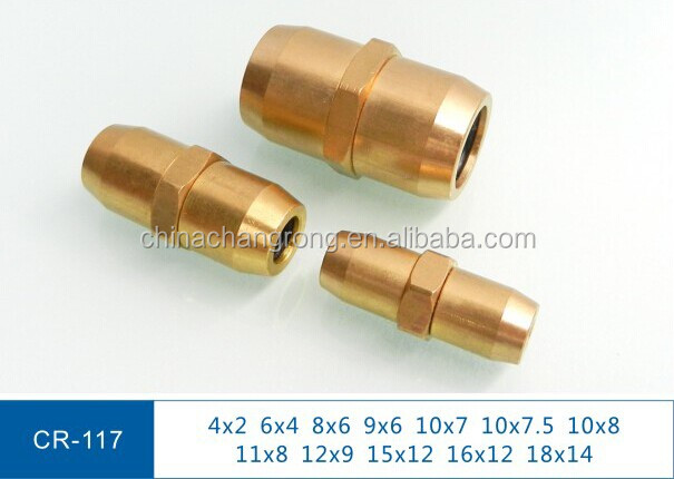 DOT airline fittings brass fittings for nylon air hose