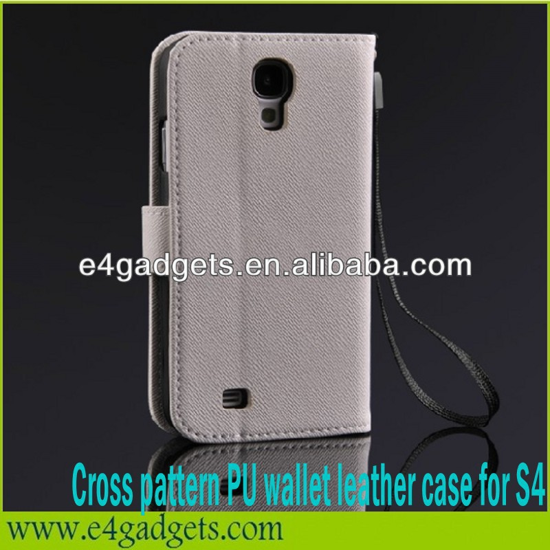 Manufacturer best selling Cross pattern flip leather case for samsung galaxy s4 active case