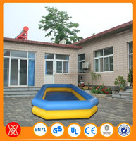 Durable commerical use 0.9mm PVC inflatable swimming pool for sale largest inflatable pool