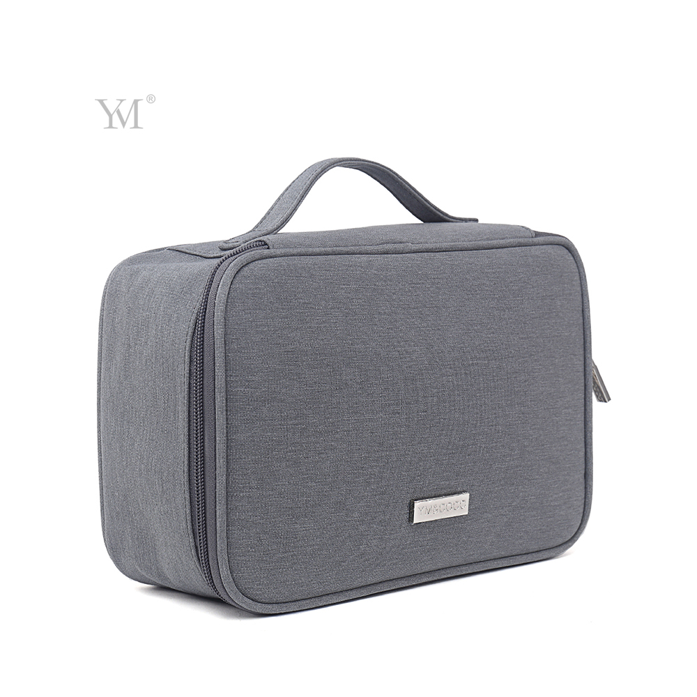 YM&COCO large capacity portable handle waterproof canvas mens travel toilet bag