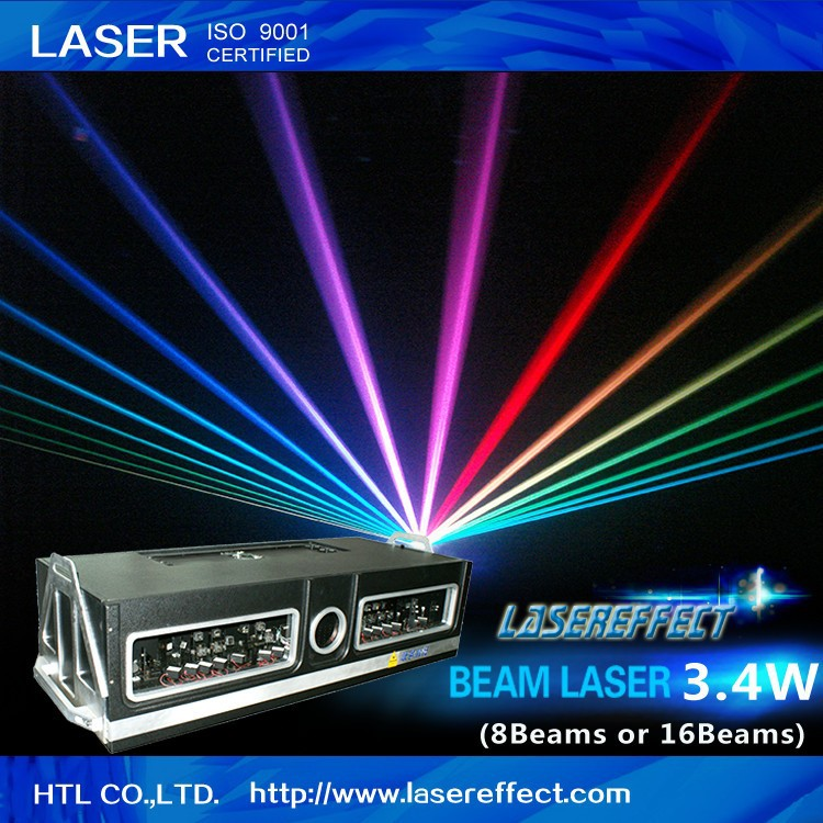 3.4W RGB low-power full color light for indoor laser light show