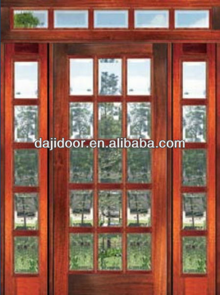15 Lites Glass Interior Double French Doors With Transom DJ S9028STHS