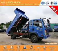 good quality SINOTRUK CDW euro2 sealed dump truck cargo dump truck 4x2 5tons for sale