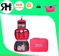 travel foldable polyester toiletry bag