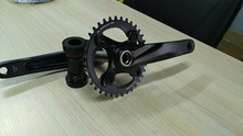 hollow mtb crankset with alloy chainring and alloy crank arm AZ9-AS320