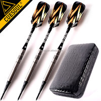 CUESOUL Tungsten Soft Tip Darts with Luxury PU Leather Case