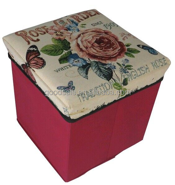 Jacquard fabric square shape large folding storage boxes