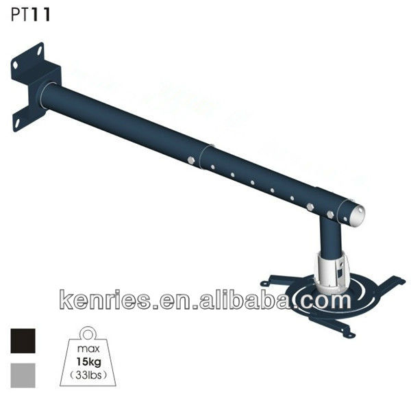 Extendable max length 1400mm universal lcd projector mount--PT11