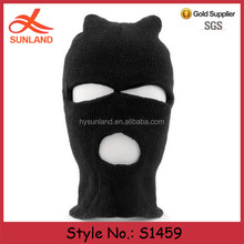 S1459 New 2016 winter neck ski black knitted motorcycle balaclava full face masks cover wholesale