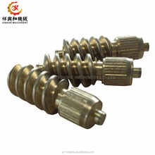 metal machining part C95500 bronze casting cnc machine service worm gears parts