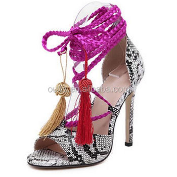2017 newest design sexy sandals sweet high heels summer party shoes PJ4002