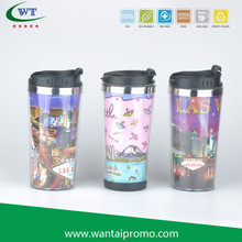 Plastic with Paper Insert Promotional Promotion Cofee Mug