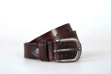 High quality lower back support genuine leather slim belt