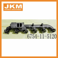 6D102 engine exhaust manifold 6735-11-5120 oil tube 6738-81-8410 exhaust muffler 6738-11-5510 6732-61-6270