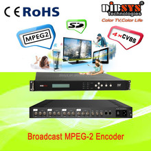4 channels dvb cabl tv equip IPTV Video MPEG4 ASP Encoder