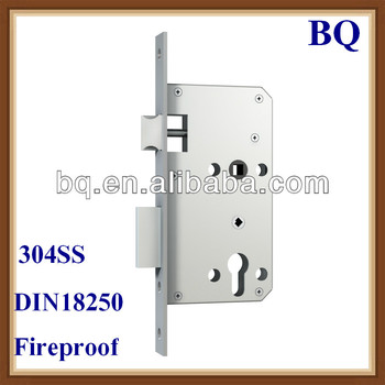 Germany standard fireproof mortise door lock with 60 72mm for Door lock germany
