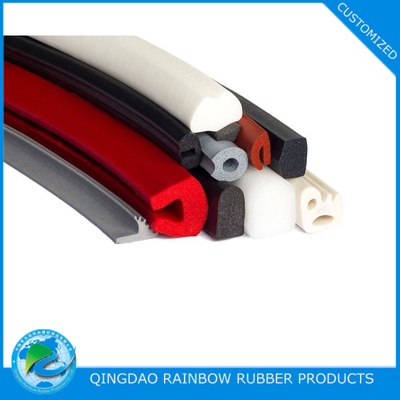 Custom extruded cellural silicone profile / strip