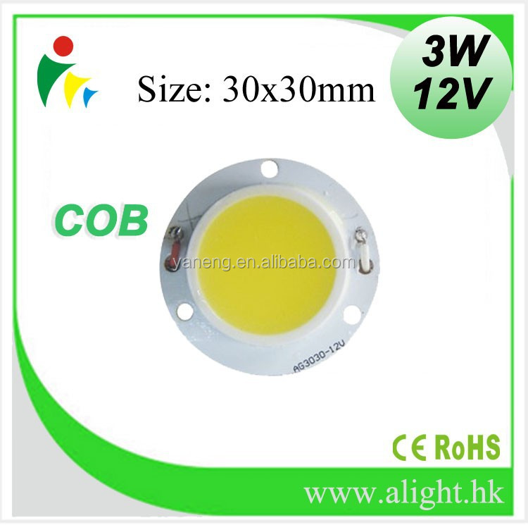ALIGHT Zhongshan COB led manufacturers provides light emitting diode 3w LED Chip
