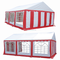 Hot selling 4x6m white&red PVC wedding tents with enhanced frame and full sets of sidewalls