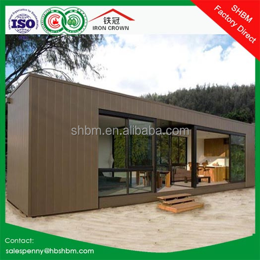 20ft 40ft flat pack light steel wooden portable home/ prefab container house