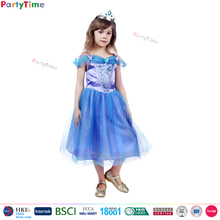 girl party wear dress 2016 kids blue halloween dresses deluxe style cosplay cinderella costume
