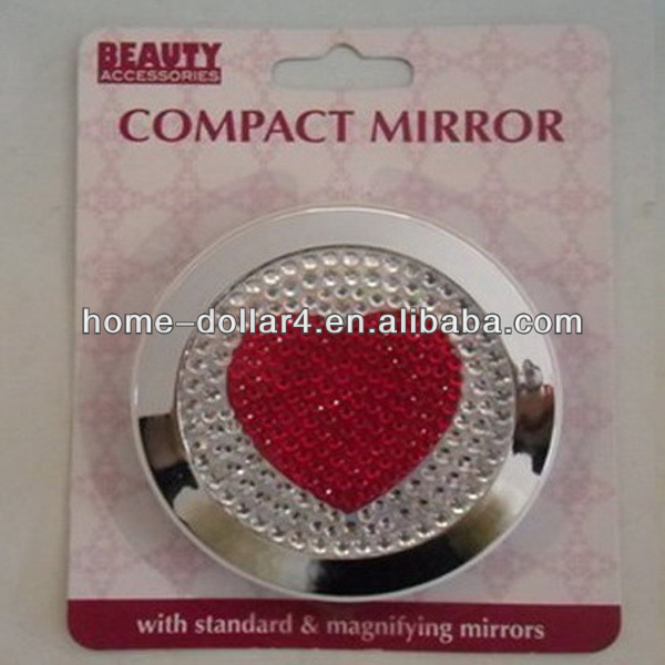 Circular Metal Mirror With Heart Shape metal standing mirror/Glass Mirror
