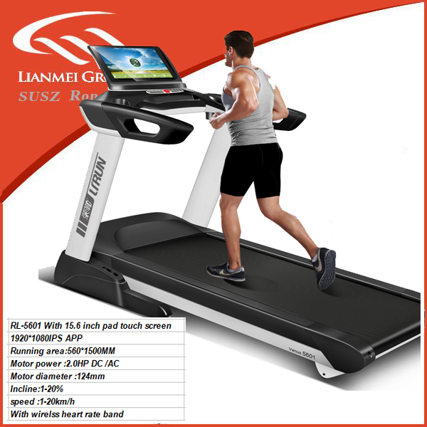 big size treadmill with running belt (W*L) 560*1500mm 15.6 touch sceen