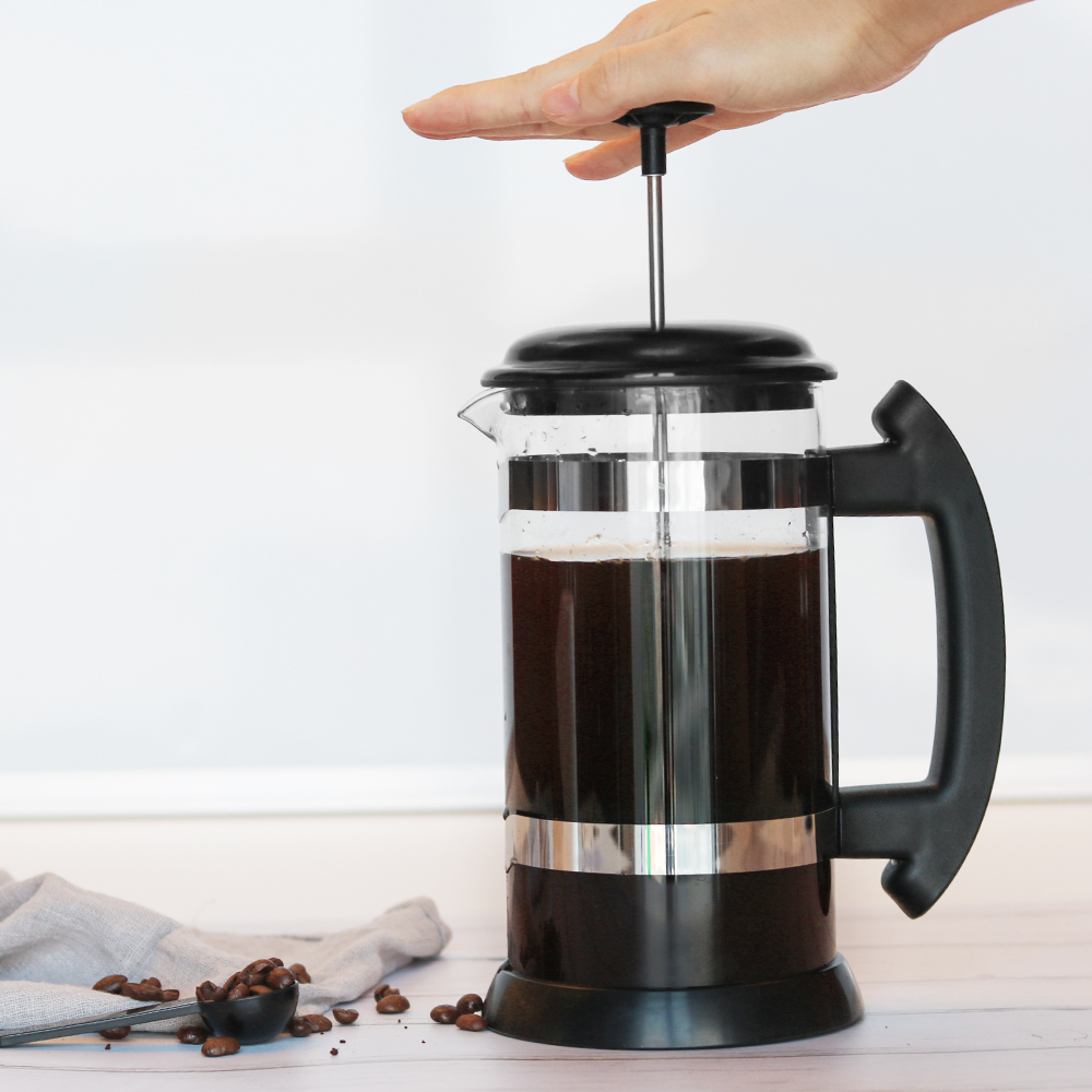 2018 New And Hot Sale Styles Cheap cost French Press With Borosilicate Glass Coffee Maker