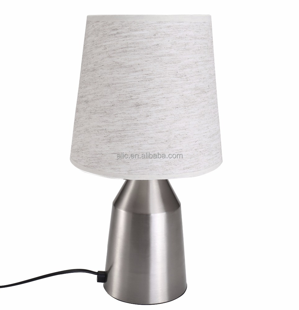 Table touch lamp nickel satin Modern design Hotel Bedside with tree and nest pattern Desk Lamp
