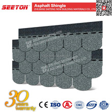 Roof Tiles Recycled Roofing Materials , Colorful Round Asphalt Shingles for Prefabricated Houses