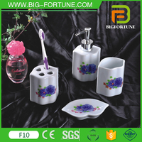 Wholesale 4pcs dolomite bathroom design china with simply decals