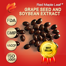 Natural Soybean Extract Supplement Grape Seed Oil Soft Gel 1000mg