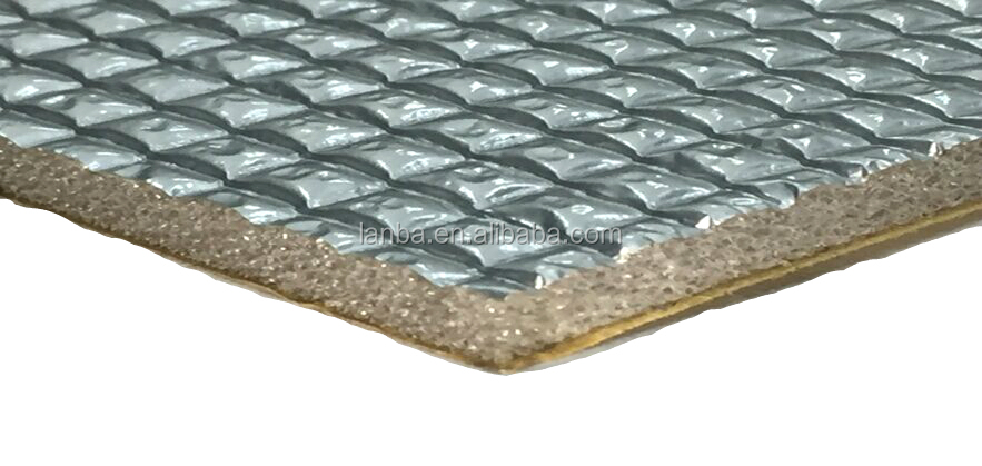 High quality fireproof acoustic with adhesive automotive sound and heat insulation material
