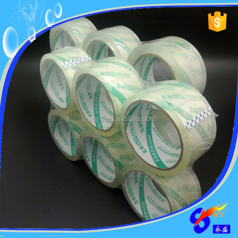 Trade assurance flat packaging transparent clear bopp packing tape