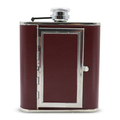 Stainless steel wine bottle , Leather hip flasks