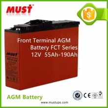MUST 12V 180Ah Front Access Terminal GEL Battery For Telecom UPS