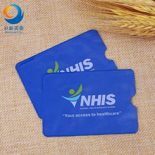 PVC Material Clear Plastic Bag Insert Card,Customized Clear Plastic Card Bag