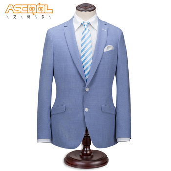 Popular Hot Light Blue Polyester/Viscose Best Men Suits Weddings