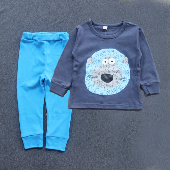 new model 2 pieces boys children cheap kids pajamas